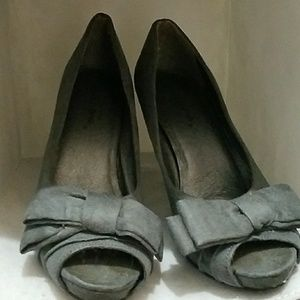 Grey peep toe Staletto high heels